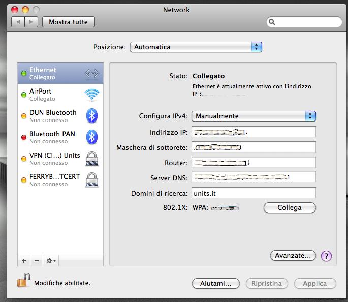 Visualizzare indirizzo IP locale